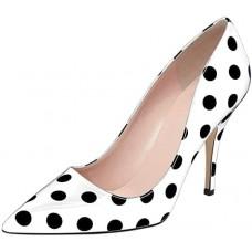 Лодочки 42-43 р горошек туфли белые